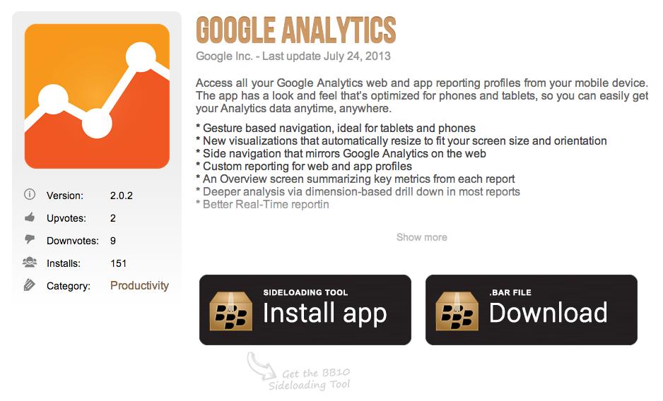 Googleanalyticsblackberrybars