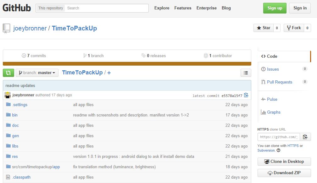 timetopackup_github_sources